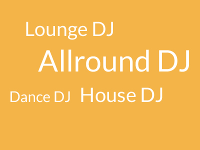 djs boeken, allround DJ, Lounge DJ, Dance DJ, House DJ