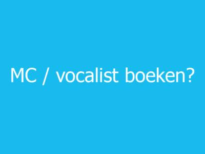 MC vocalist boeken blauw